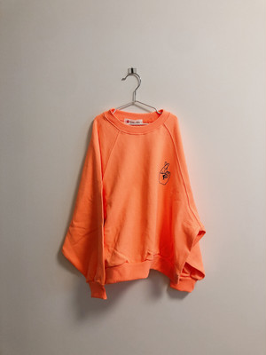 【kids】neon colour sweatshirt orange