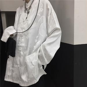 チャイナデザイン長袖シャツ