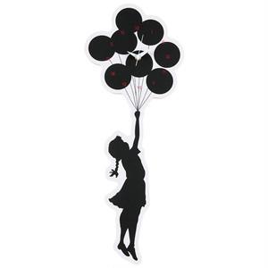 "Sync×BRANDALISM WALL CLOCK ""FLYING BALLOONS GIRL""  2nd made by KARIMOKU"