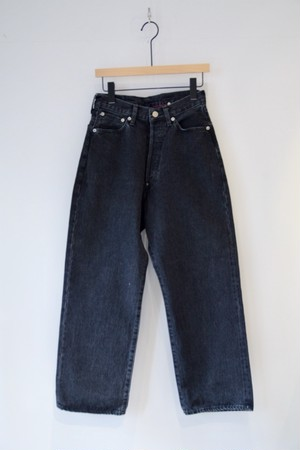 【ordinary fits】FARMERS 5P BLACK DENIM USED/OM-P108B