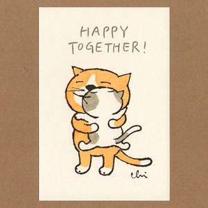 にゃんきーとすポストカード [Happy together]