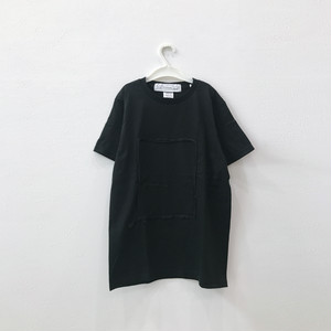 【キッズMサイズ】ビッグシルエットTシャツ(しかく)Black