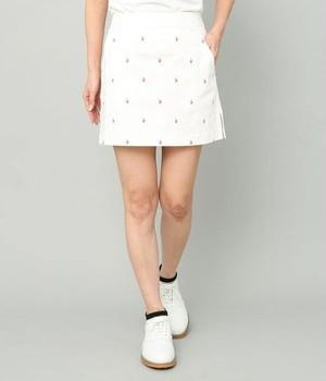 フラミンゴ柄プリントスカート