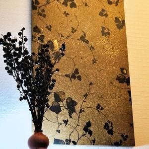 国産和紙壁紙アートパネル|花柄|Made in Kuukan aga