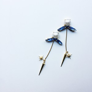 Spirit of the Forest 森の精霊のピアス/イヤリング-smoky blue-