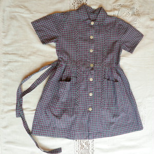 French 60's Kids Work Dress