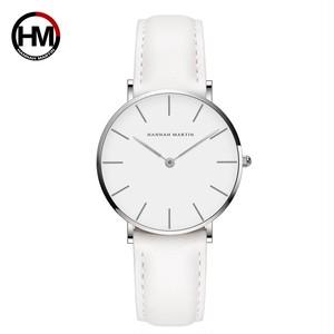 女性の時計クリエイティブトップブランド日本クォーツムーブメント時計ファッションシンプルな因果レザーストラップ女性の防水腕時計CB36-YB
