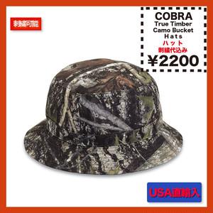Cobra Caps True Timber 100% Polyester Camo Bucket Hat (品番TT-BKT)