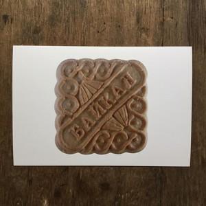 バイカル湖クッキー ポストカード