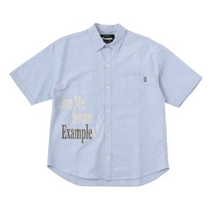 EXAMPLE GME OXFORD S/S SHIRT / BLUE