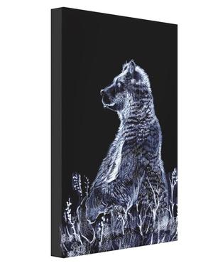 野山に生きる熊キャンバス20.5×25.4cm