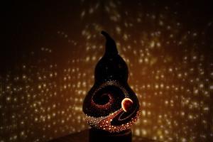 ひょうたんランプ 【 ミクロコスモス 】 宇宙ランプt-5
