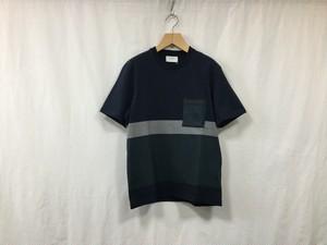 "FLISTFIA""Short Sleeve T-Shirts Navy×Blue Gray×Green"""