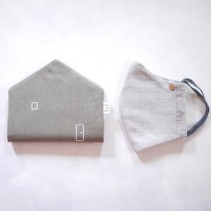mask-house (マスク+マスクケース セット)*大人サイズ  グレー