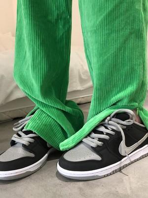 コーデュロイジップスリットパンツ(Green,Black) 12900