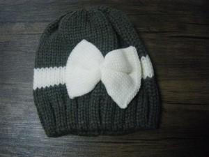 リボン柄ニット帽★ベビー用のかわいい帽子