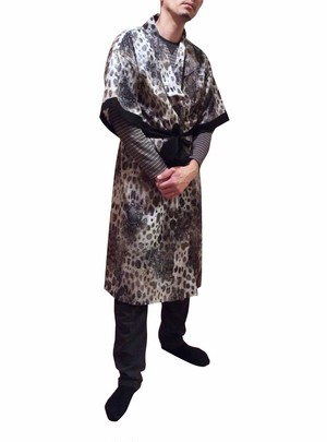 Long Robe Psychedelic Animal For Men ロングローブサイケデリックアニマルメンズ