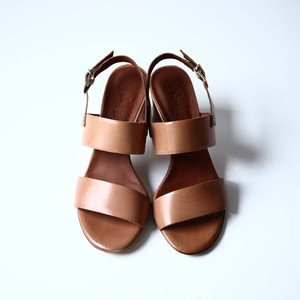 【Luca Grossi】Leather Heel Sandal