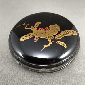 柘榴蒔絵錫縁香合 江戸時代後期|古美術 茶道具 秋の香合 風炉の香合