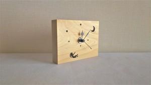 木製置き時計 ココペリ と 月