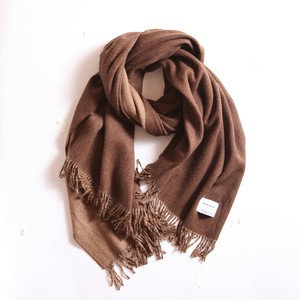 THE INOUE BROTHERS/Woven Brushed Doublefaced Stole/Brown×Camel