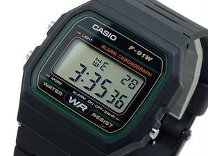 カシオ CASIO スタンダード デジタルクオーツ 腕時計 F91W-3 液晶