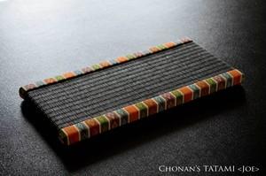 【金襴】雛人形にぴったりなミニ畳(和紙製・墨染色)-大