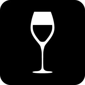 ワイン案内マークのカッティングシートステッカー