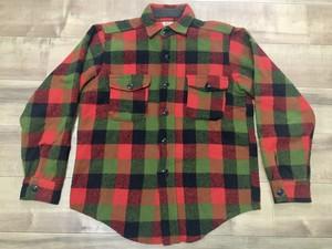 アメリカ製 ビンテージ チェックウールシャツ CPO 50s 60s OLD