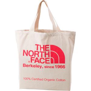 THE NORTH FACE (ザノースフェイス) TNFオーガニックコットントート (CP)ナチュラル×コーラルピンク