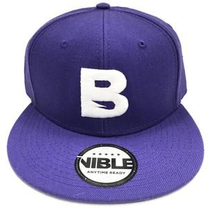 Nible Flat Visor Cap / Purple×White