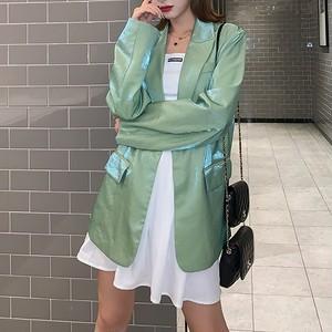 光沢ビッグジャケット(全2色) / HWG093
