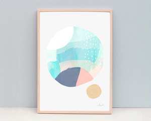 Abstract / A4 Contemporary Art Print