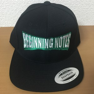 "SNAPBACK CAP ""BEGINNING NOTES"" ブラック"