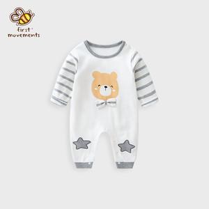 【オールインワン】カートゥーンコットンキュートリボンベビー服ロンパース25856411