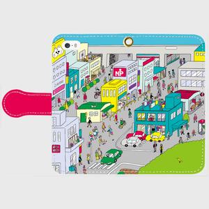 【流田City】iPhone手帳型スマホケース