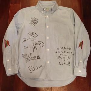 "SALTWATER COWBOY / ソルトウォーターカウボーイ | YOSEMITE "" DOODLE Oxford B.D. Shirts / Sax Blue"