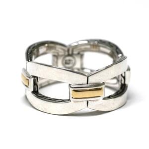 "Vintage ""JOHN HARDY"" Sterling Silver & 22k Gold Ring"