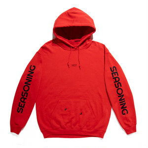 SEASONING COLOR HOODIE  - RED