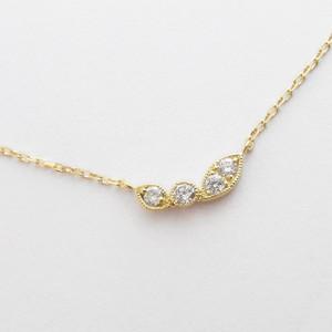 K18YG ダイヤモンド ローレルプチネックレス(小)
