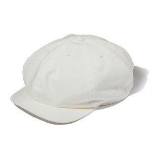 "Just Right ""Sports-Newsboy Cap Cotton Twill"" White"