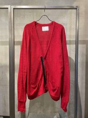 TrAnsference zip cardigan - red(dull)