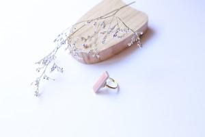 338伝統文化品美濃焼多治見四角タイル指輪・リング(フリーサイズ)