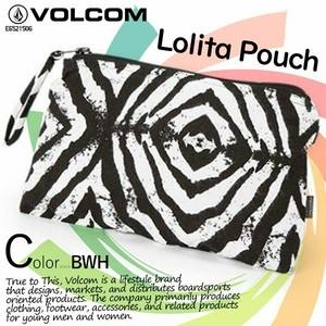 E6521506 ボルコム ポーチ 人気ブランド ボタニカル 小物入れ レディース 花柄 選べる 2カラー 黒 ブラック ギフト おすすめ VOLCOM