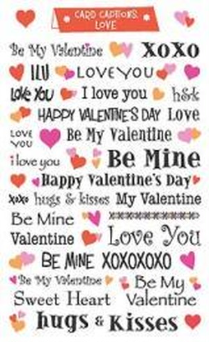 Card captions, Valentine