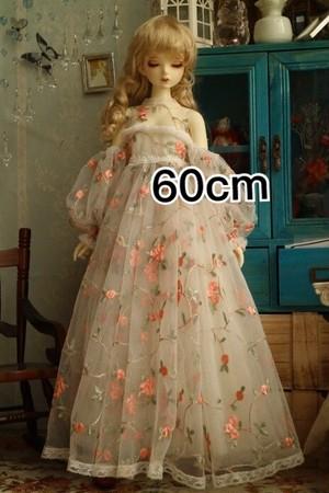 【即納】薔薇柄レースドレス【60cm/SD/SDgr】