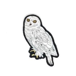 シロフクロウの刺繍ワッペン