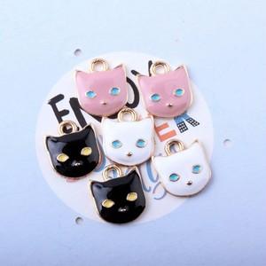 ★パーツ★スマート猫のカラーチャーム 50個入り*全3色