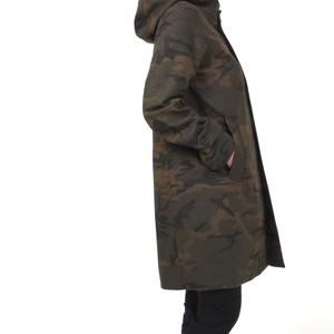 カモフラージュフーデッドコート
