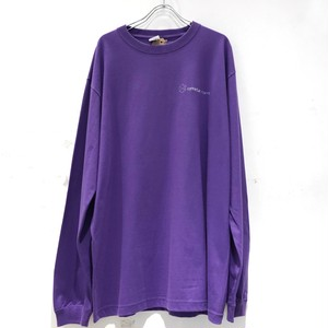 Connecter Tokyo back print logo long sleeve tee purple